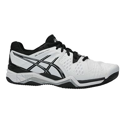 3dc7d2bc6af Asics Gel Resolution 6 Clay Scarpe Tennis - White Black · AsicsEspadrilles