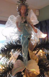 Angel Ornament Mermaid Ornament Handmade Mermaid Angel Ornament.