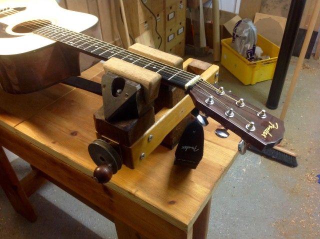A Home Made Pattern Makers Vise Guitar Building Vise Luthier Workshop