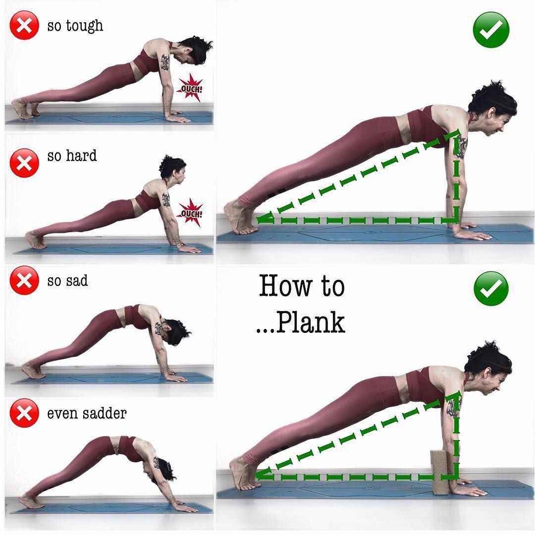 "How To Practice Yoga on Instagram: ""Plank pose, when done"