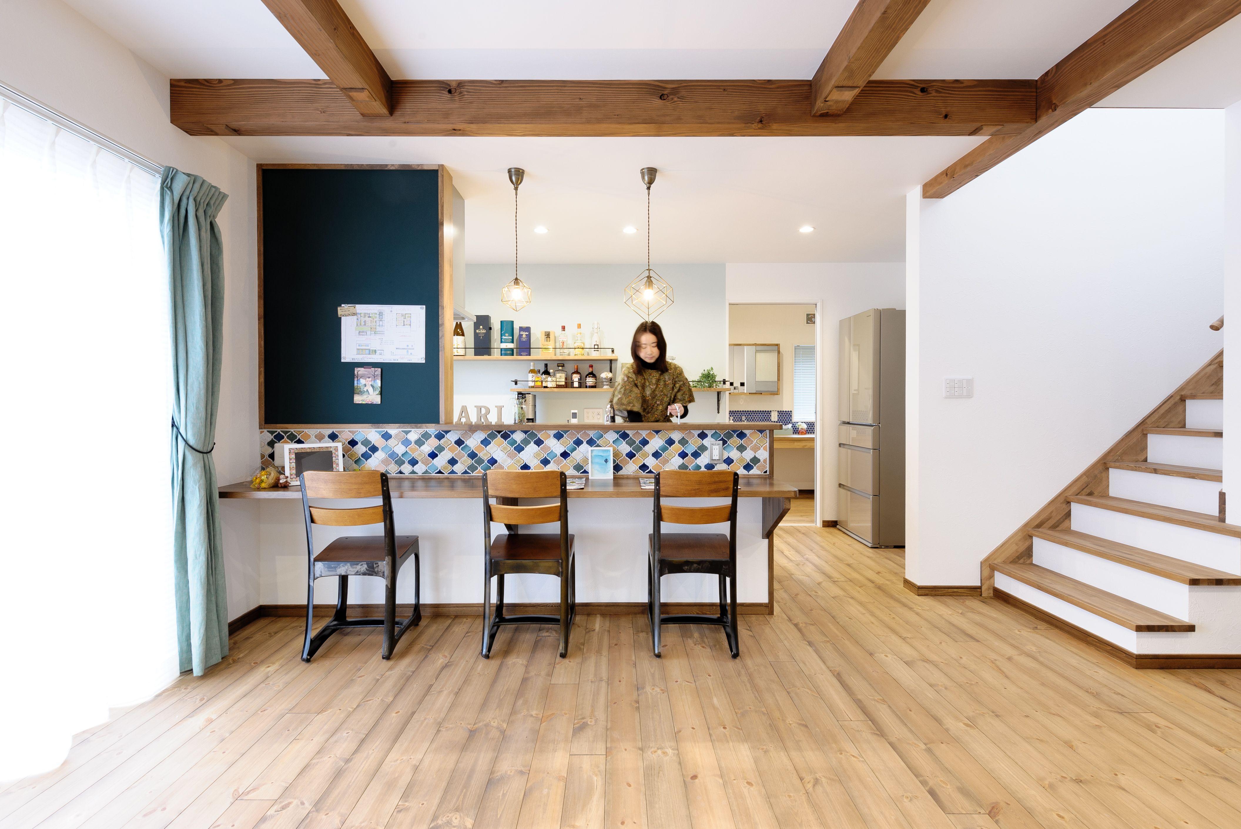 小布施町の注文住宅写真集 収納アイデアが満載 カフェ風の家