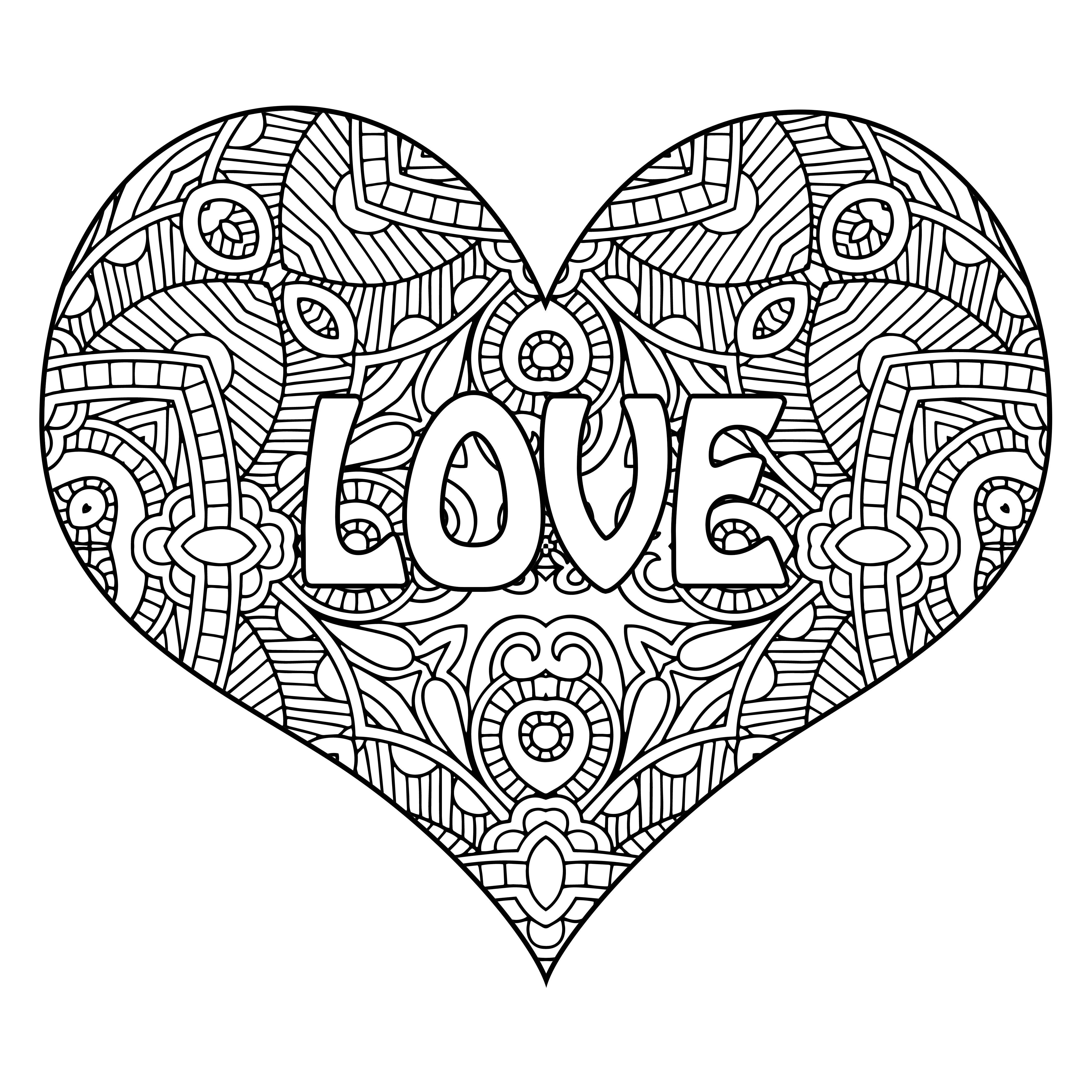 Http Www Allfreeadultcoloringbooks Com Singleheart Love 15 Jpg