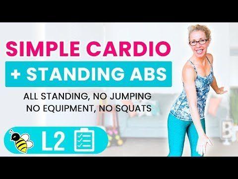 30 Minuten Simple CARDIO + Stehendes ABS HIIT für ANFÄNGER • Pahla B Fitness, #Abs #Anfänger #Cardio...