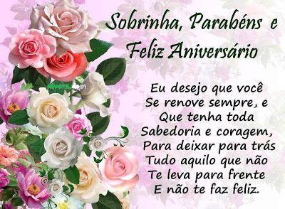 Feliz Aniversário Para Sobrinha Querida Com Rosas Mensagens De