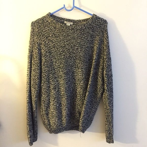 Charcoal knitted sweater Salt and letter colored knitted sweater Forever 21 Sweaters Crew & Scoop Necks