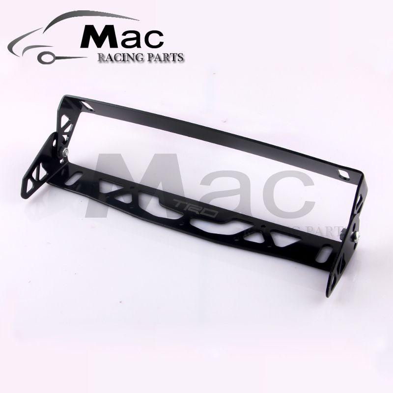 car universal aluminum trd style adjustable rotating number plate ...