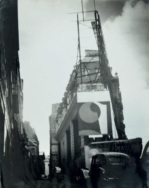 PARRY Roger RUE DE PARIS. Circa 1940; 30 x 23,5 cm