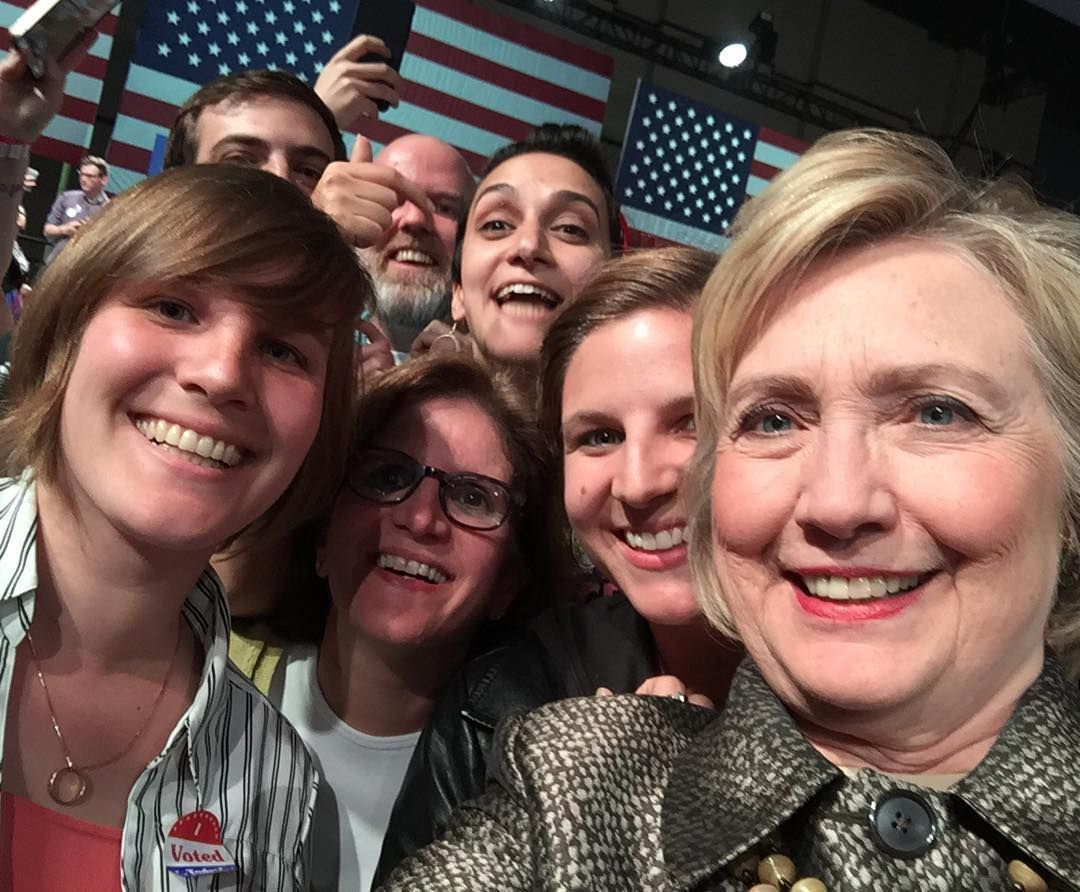What did you do last night?  #goinguponatuesday #hillaryclinton