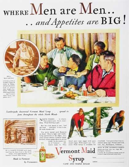 Vermont Maid Syrup 1930's ad