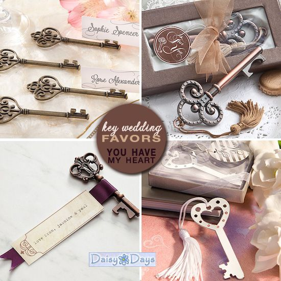 Friday Favor of the Day : Key Wedding Favors | Favours, Key and Wedding