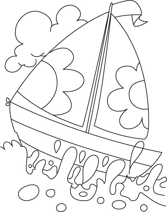 A Boat In Deep Water Coloring Page Free Coloring Pages Coloring
