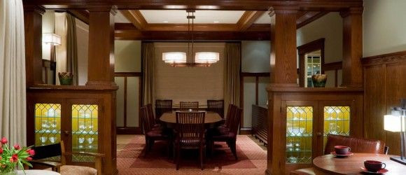 One Of My Favorite Details In An Arts U0026 Craft Design Are The Built Ins And  The Posts Dividing Living Room And Dining Room. There Is Definition But  There Is ...