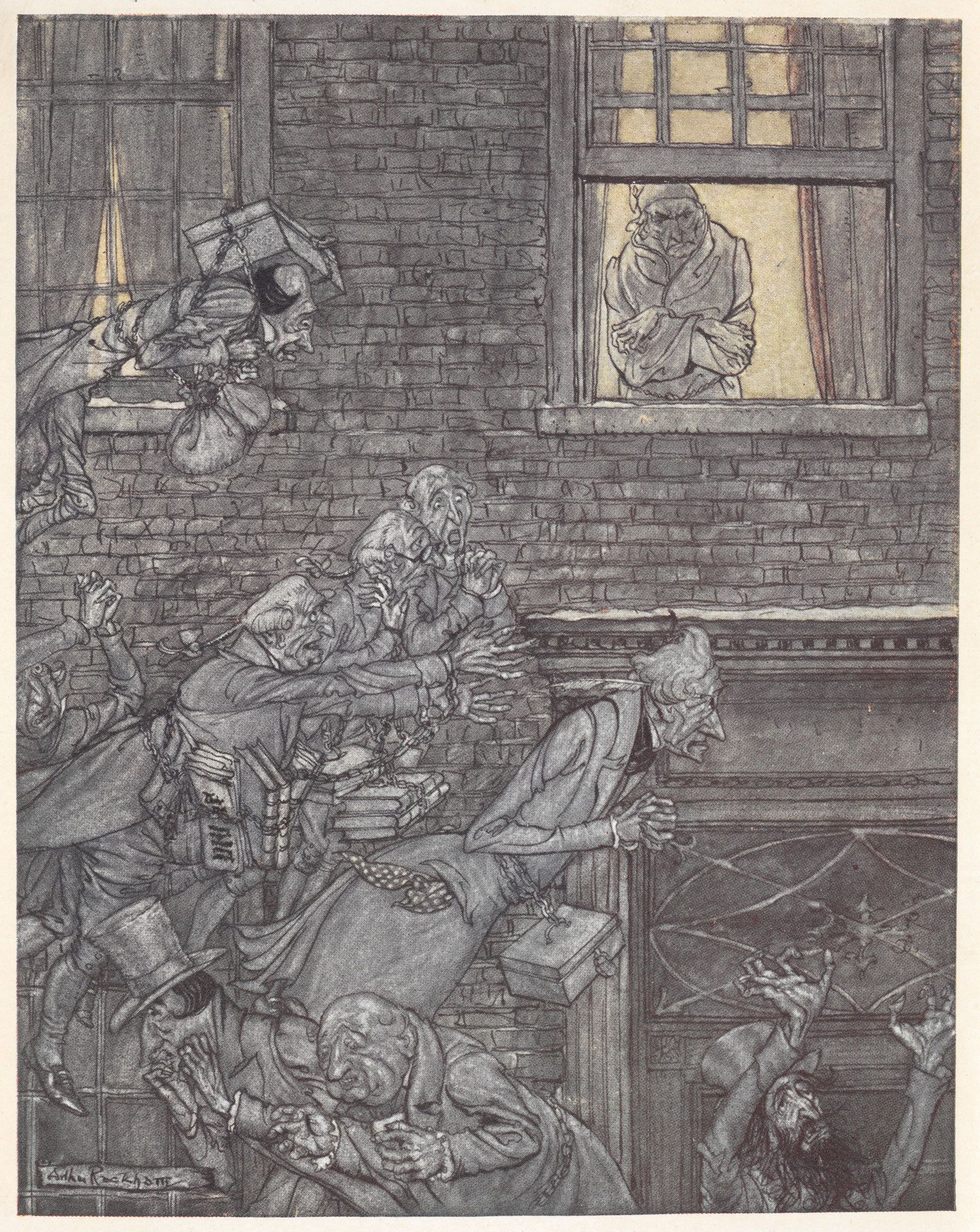 A Christmas Carol Illustrated By Arthur Rackham Christmas Carol Arthur Rackham Charles Dickens Christmas