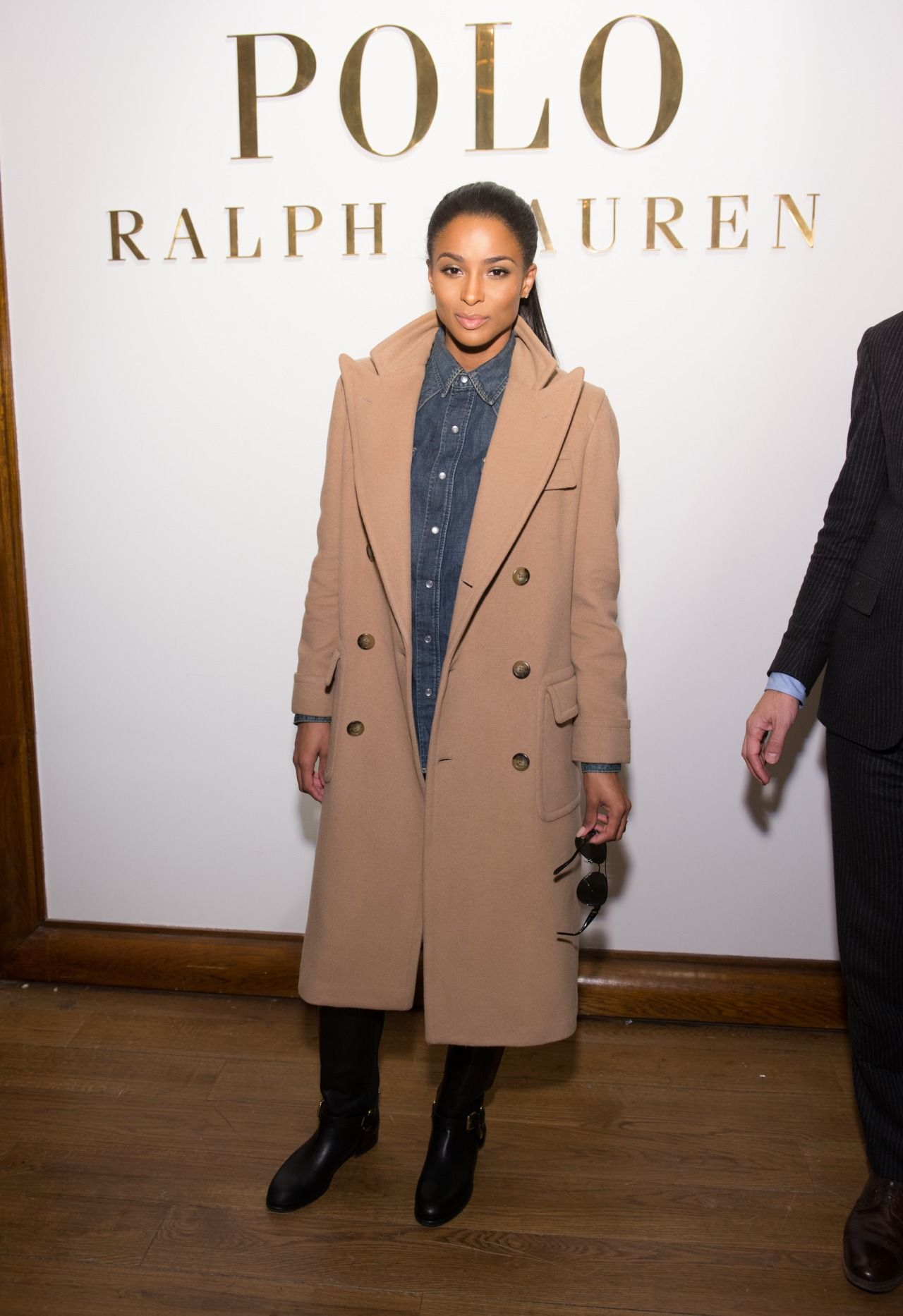 """""""Ciara attends the Ralph Lauren Polo Mens and Womens presentation during Mercedes-Benz Fashion Week Fall 2015 on February 12, 2015 in New York City """""""
