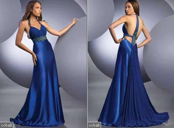 Modelos de vestidos largos color azul electrico