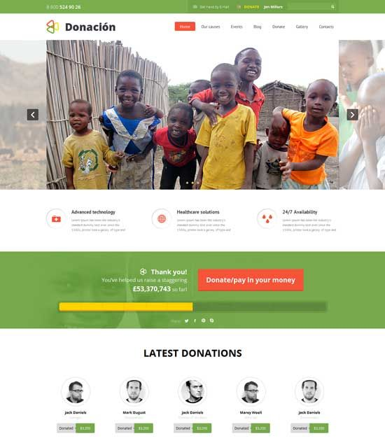 image result for donation page template fundraising pinterest