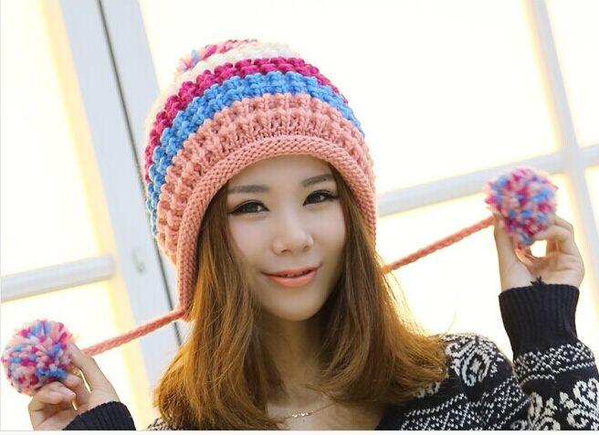 BomHCS Coreano Lindo Otoño Invierno Cálido Color Mosaico de Punto ...