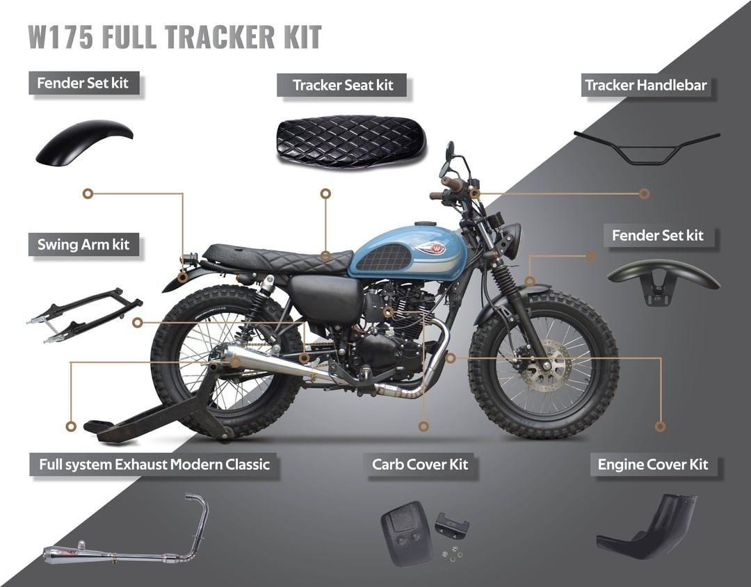 4 631 Likes 32 Comments Custom Kit Custom Kit On Instagram Fresh From The Oven Kawasaki W175 Full Tracker Kit With Custom Kit Parts Untuk Pemesanan