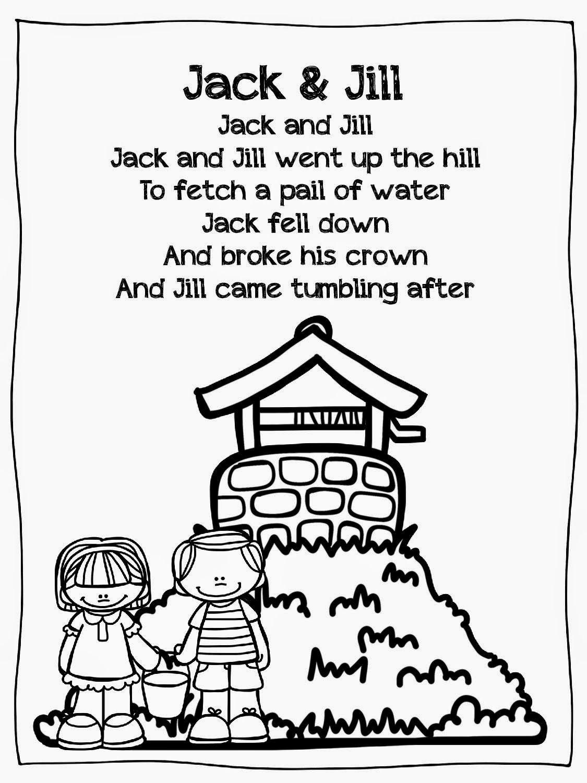 Jack And Jill Literacy Freebie