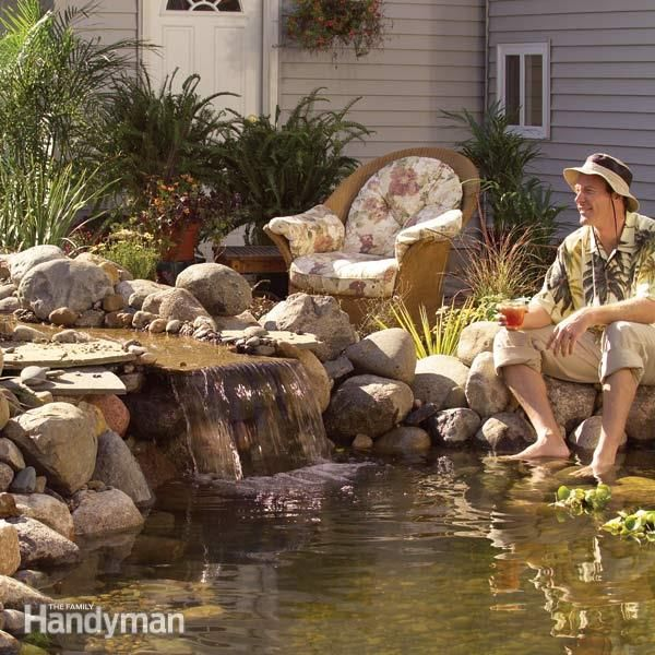 Pond how to build a low maintenance pond pond waterfall for Building a fountain pond