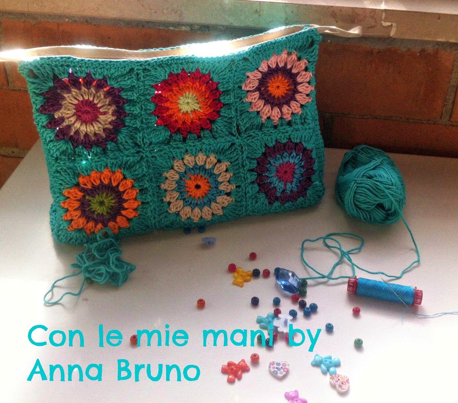 Con le mie mani by Anna Bruno: tutorial pochette crochet | borse ...