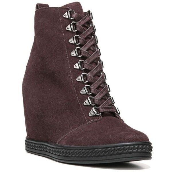 Fergie Red Vamp Jillian Wedge Sneaker - Women's ($130) ❤ liked on Polyvore  featuring