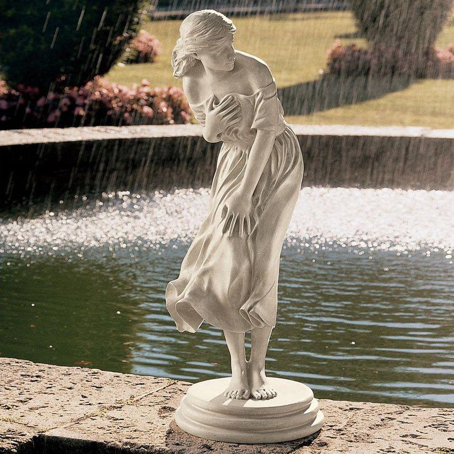 Shop Design Toscano 34.5 In H Windblown Garden Statue At Lowes.com