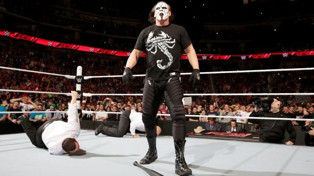 Seth Rollins springs a trap for Randy Orton: Sting Takes Out J &J Security RAW 3-16-2015