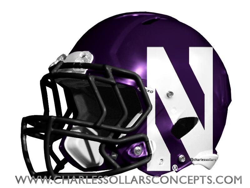 Northwestern wildcats helmet concepts helmet concept