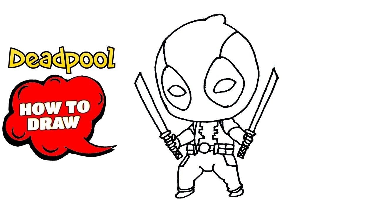 How To Draw Deadpool Easy Drawing With Pen Easy Drawings Art Tutorials Drawing Drawing Tutorial Easy
