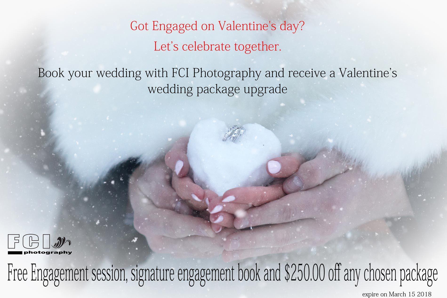 Valentine wedding package special upgrade! Valentine