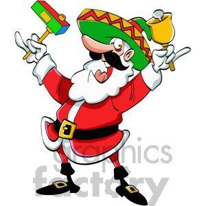 Christmas Cartoon Images Clip Art.Mexican Santa Claus Cartoon Clipart Royalty Free Clipart