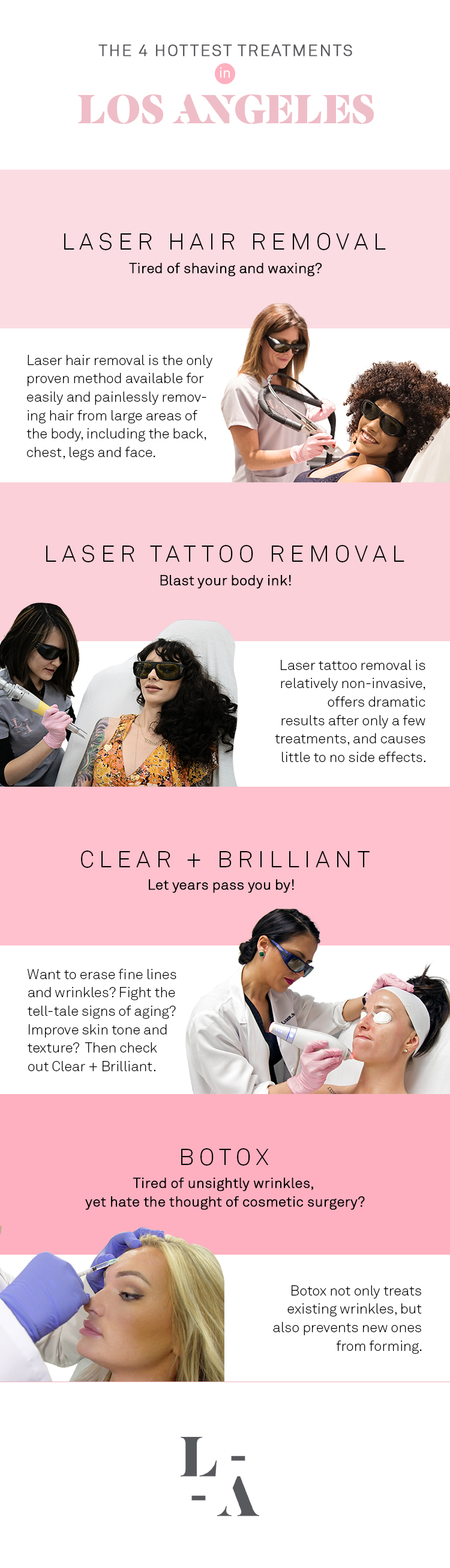 The 4 Hottest Treatments In Los Angeles Laseraway Laser Hair Removal Fine Wrinkles