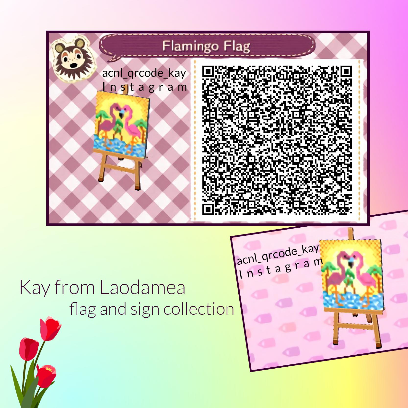 Qr Code Flamingo Flag Qr Codes Animals Animal Crossing Qr