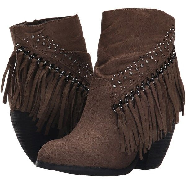 Not Rated Nova Muna Women's Zip Boots, Taupe ($43) ❤ liked on Polyvore