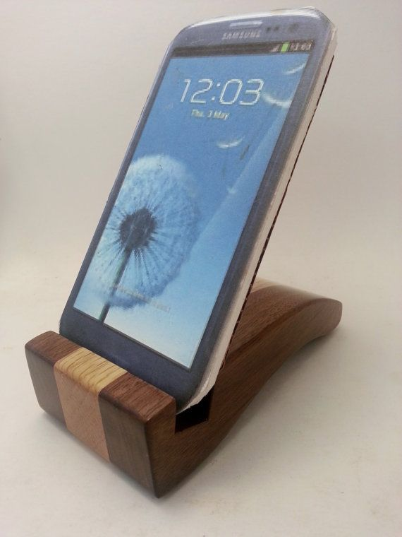 Smart Cell Phone Holder Desk Accessory Wood Stand Ma0263