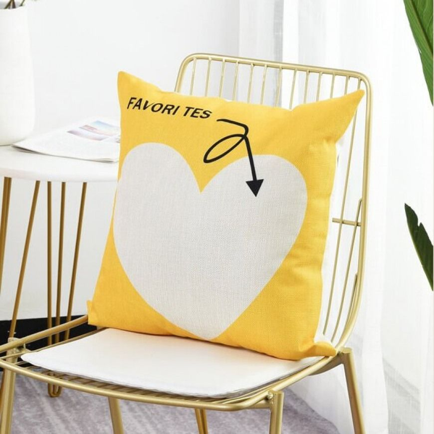 غطاء خدادية أصفر Cushion Cover Pillowcase Pattern Cushions