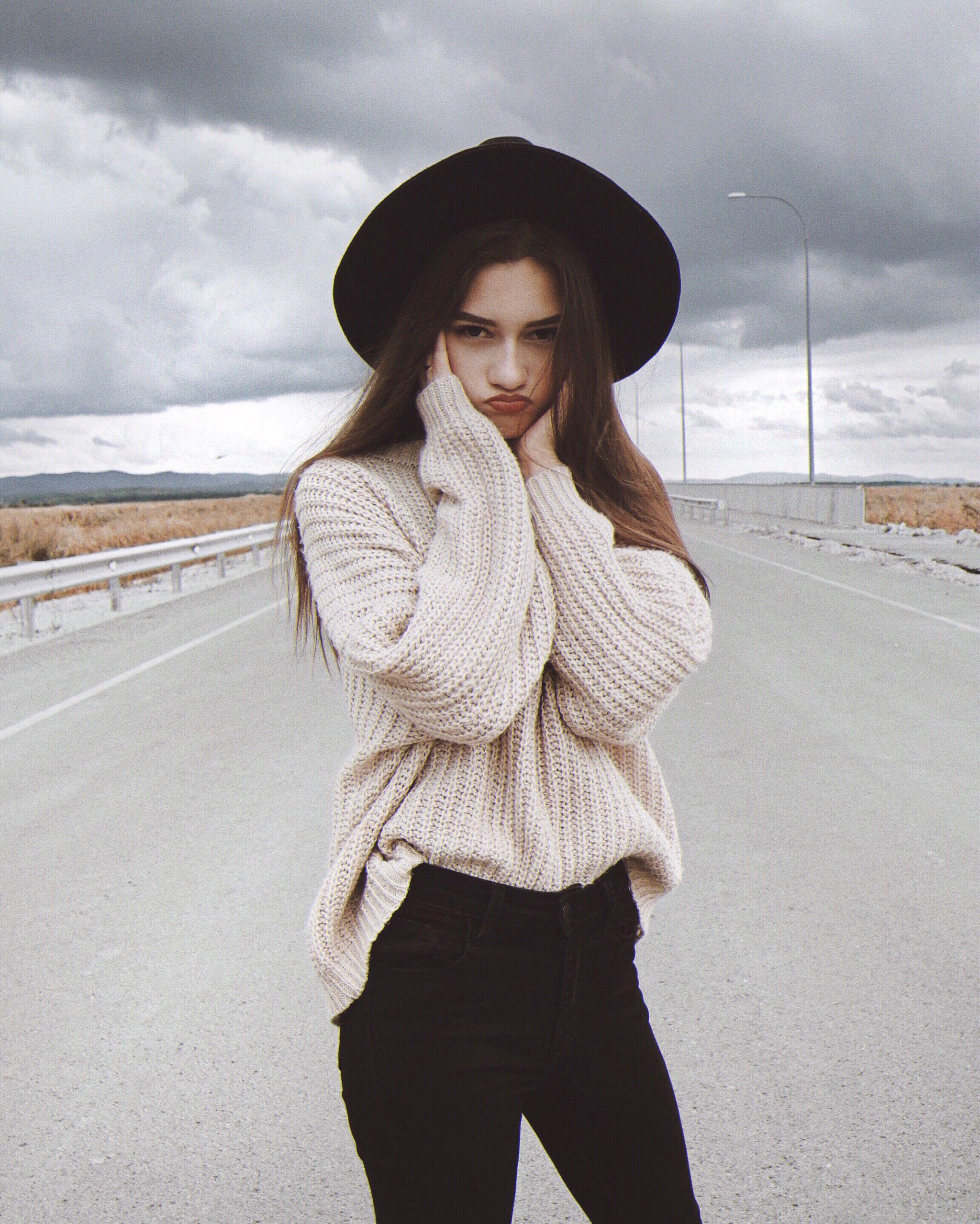 идеи для фото, фото в городе, фото на дороге, фото в шляпе ...