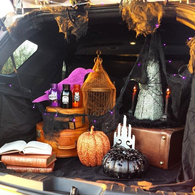 witch theme trunk or treat a very witchy trunk or treat 1st place - Halloween Trunk Or Treat Decorating Ideas