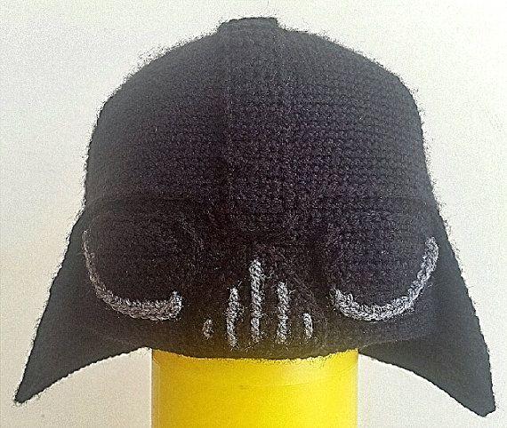 Patron crochet Darth Vader beanie (ESPAÑOL) | Handarbeiten und Häkeln