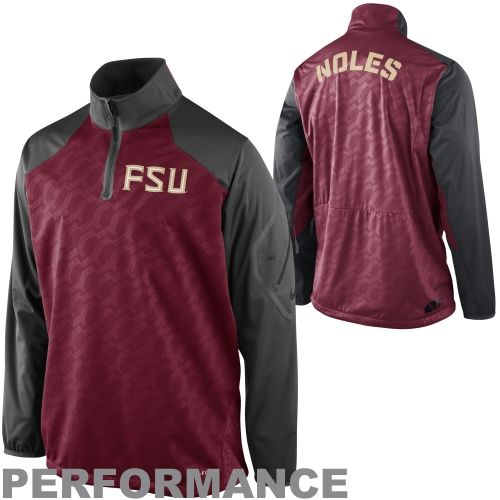 COLLEGE Nike Florida State Seminoles (FSU) Performance Fly Rush Quarter Zip  Pullover Jacket -