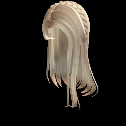 1 Blonde Straight Hair With Braid Tiara Roblox In 2020 Straight Hair With Braid Straight Hairstyles Straight Blonde Hair