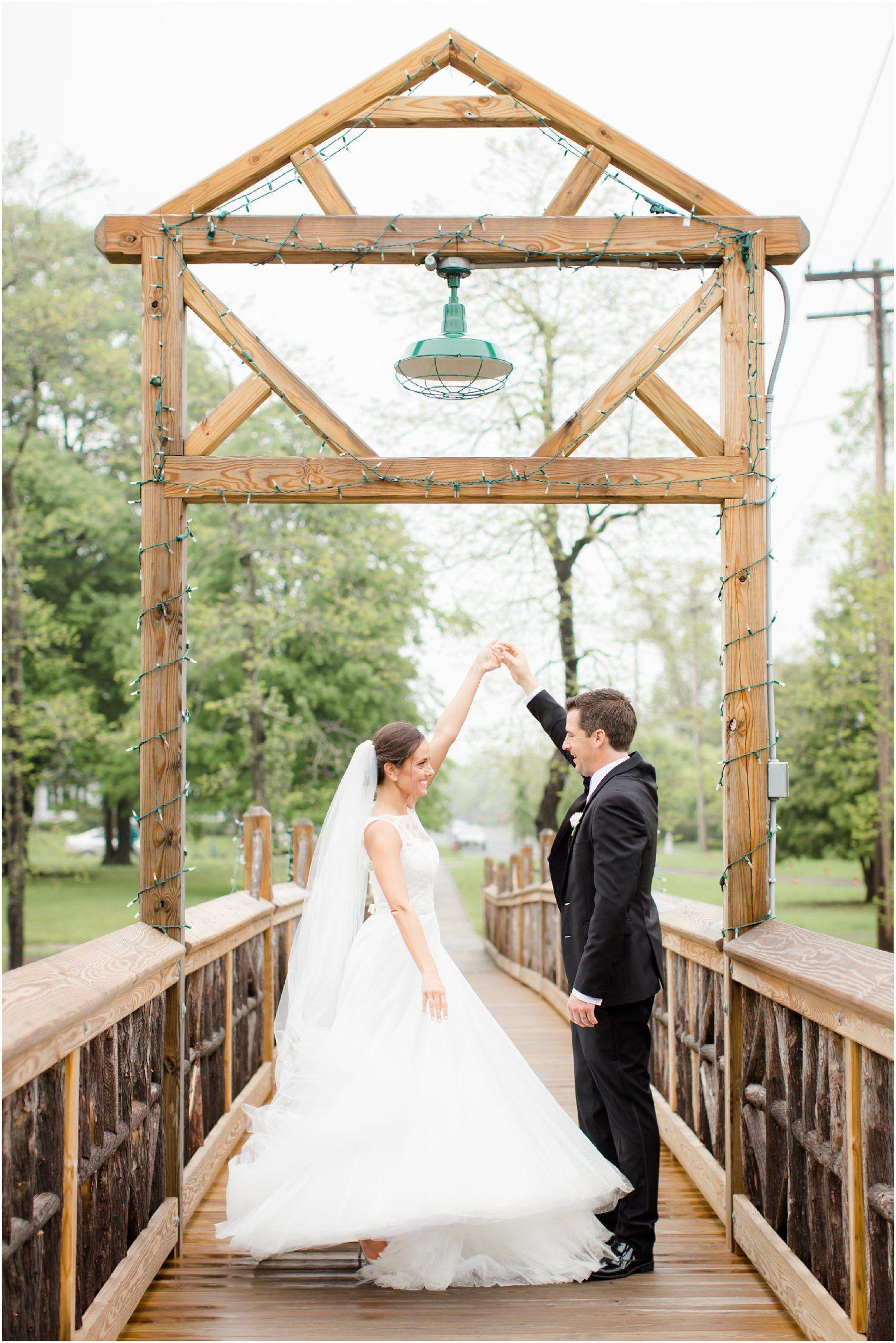 Bride And Groom Dancing On Spring Lake Bridge See More Of This Clic Wedding Here Golf Club Northern Nj Venue