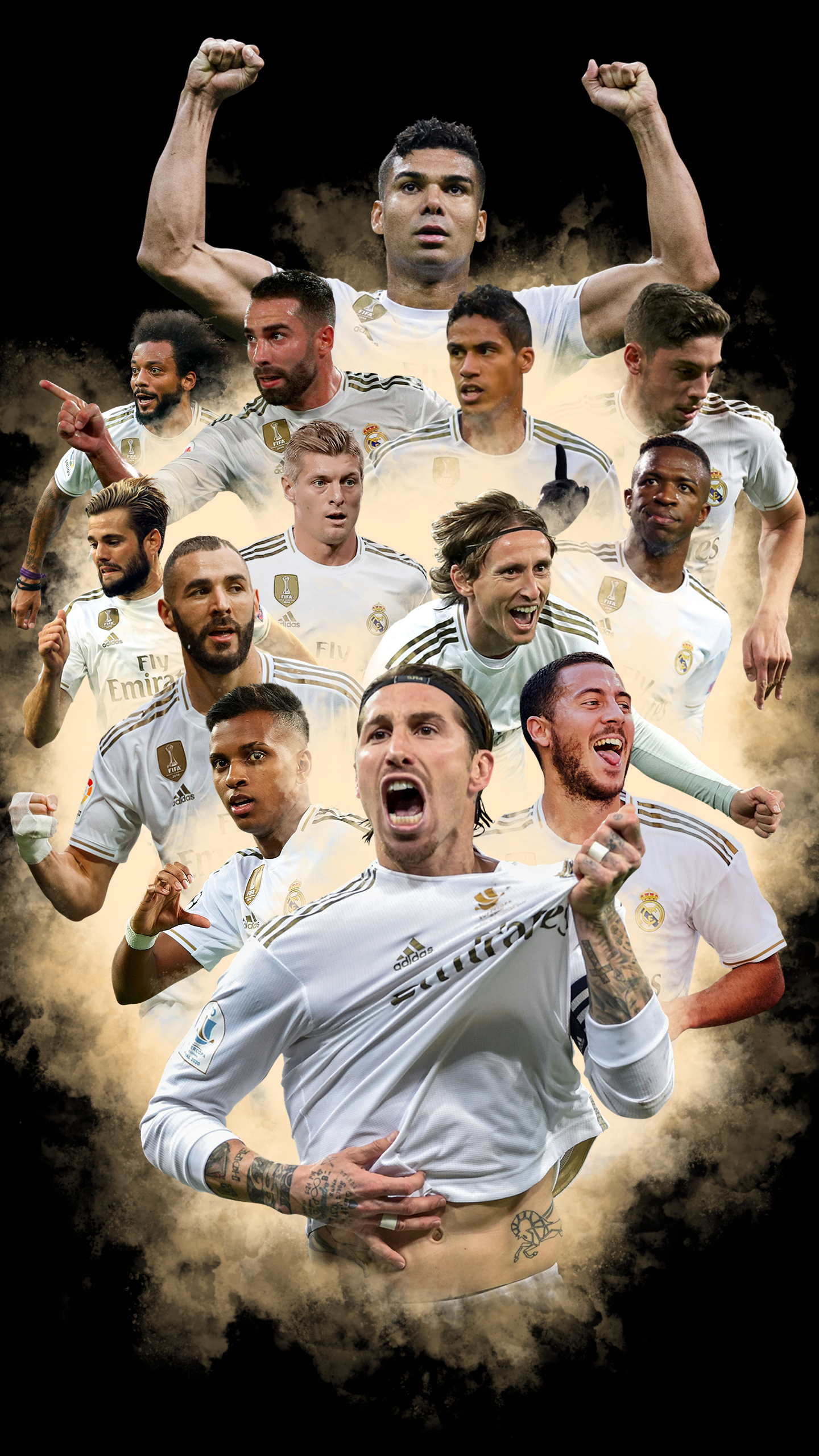 [OC] AMOLED Real Madrid Wallpaper