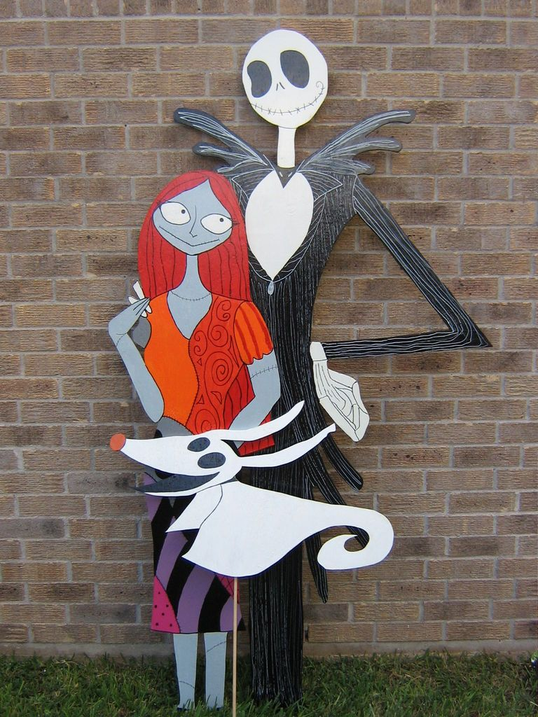 Christmas wooden yard decorations - Jack Sally And Zero Yard Decorations