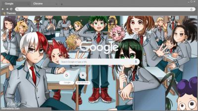 Boku No Hero Academia Chrome Themes Themebeta My Hero Academia Hero Theme