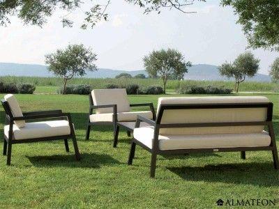 Salon de jardin très moderne, en aluminium. Modèle Modena | Salons ...