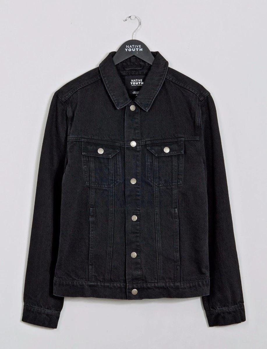 Blackgate Denim Jacket In 2021 Denim Jacket Jackets Black Jean Jacket [ 1200 x 917 Pixel ]