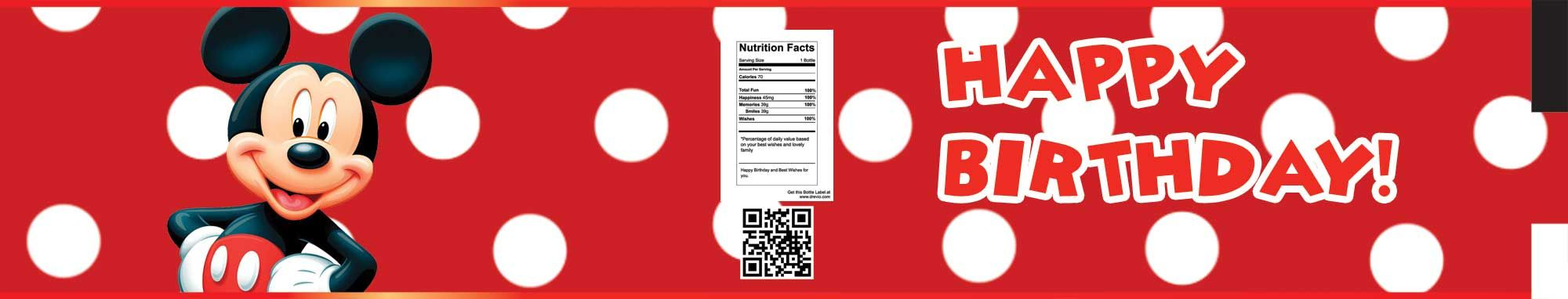 FREE Mickey Mouse Water Bottle Labels | Mickey mouse party ...