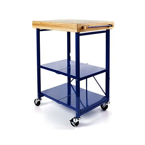 Origami Folding Kitchen Cart | Origami Folding Kitchen Island Cart With Casters 8090466